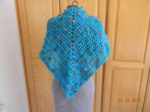 Triangel Shawl - Turguoise-back